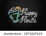 vector realistic isolated neon... | Shutterstock .eps vector #1071067613