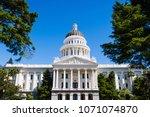 california state capitol... | Shutterstock . vector #1071074870
