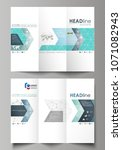 tri fold brochure business... | Shutterstock .eps vector #1071082943