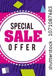 special sale offer flyer | Shutterstock .eps vector #1071087683