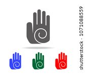 hand with circle icon. elements ... | Shutterstock .eps vector #1071088559