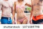 fashion of underwear summer... | Shutterstock . vector #1071089798