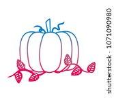 degraded line organic pumpkin...   Shutterstock .eps vector #1071090980