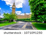 big ben and the palace of... | Shutterstock . vector #1071091250