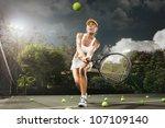 portrait of young beautiful... | Shutterstock . vector #107109140