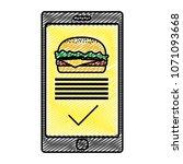doodle smartphone with... | Shutterstock .eps vector #1071093668