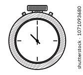doodle pocket watch fashion... | Shutterstock .eps vector #1071093680