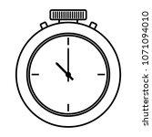 line pocket watch fashion... | Shutterstock .eps vector #1071094010