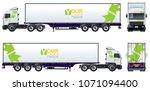 vector truck template isolated...   Shutterstock .eps vector #1071094400