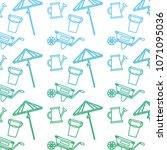 degraded line handcart with... | Shutterstock .eps vector #1071095036
