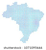 freeze brazil map. vector... | Shutterstock .eps vector #1071095666