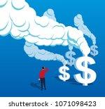 us dollar smoke billowing | Shutterstock .eps vector #1071098423