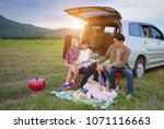 happy family asia enjoying and... | Shutterstock . vector #1071116663