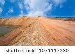 empty reclamation  compact land ... | Shutterstock . vector #1071117230
