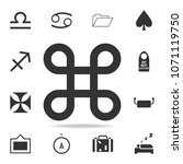 looped square icon. detailed... | Shutterstock .eps vector #1071119750