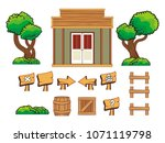 set of game icon  object and... | Shutterstock .eps vector #1071119798