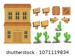 set of game icon  object and... | Shutterstock .eps vector #1071119834