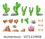 set of game icon  object and... | Shutterstock .eps vector #1071119858
