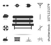 bench icon. detailed set of web ...