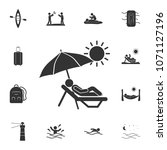 sunbathe icon. detailed set of... | Shutterstock .eps vector #1071127196