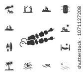 shashlik icon. detailed set of...
