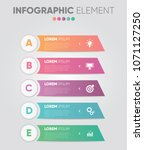 business vector infographic... | Shutterstock .eps vector #1071127250