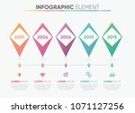 business vector infographic... | Shutterstock .eps vector #1071127256
