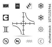 hyperbola plot icon. detailed... | Shutterstock .eps vector #1071131966