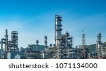close up industrial view at oil ... | Shutterstock . vector #1071134000