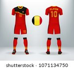 3d realistic of font and back... | Shutterstock .eps vector #1071134750