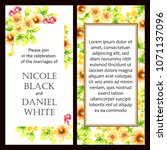 vintage delicate invitation... | Shutterstock . vector #1071137096