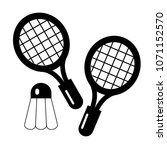 vector icon for badminton  | Shutterstock .eps vector #1071152570