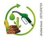fuel gun with ecology options | Shutterstock .eps vector #1071153719
