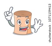 finger medical gauze mascot... | Shutterstock .eps vector #1071159413