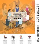 page with friends sitting at... | Shutterstock .eps vector #1071161294