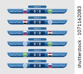 match schedule group a vector... | Shutterstock .eps vector #1071162083