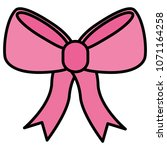 bow ribbon isolated icon | Shutterstock .eps vector #1071164258