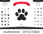 paw icon symbol | Shutterstock .eps vector #1071171863