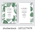 template for wedding invitation.... | Shutterstock .eps vector #1071177479