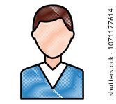 portrait man male character... | Shutterstock .eps vector #1071177614
