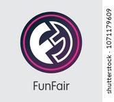 funfair blockchain pictogram... | Shutterstock .eps vector #1071179609