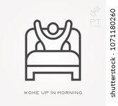 line icon woke up in morning | Shutterstock .eps vector #1071180260