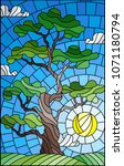 illustration in stained glass... | Shutterstock .eps vector #1071180794