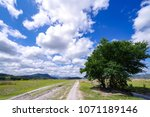 beautiful cloudy blue sky at...   Shutterstock . vector #1071189146