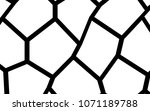 black and white irregular grid  ... | Shutterstock .eps vector #1071189788