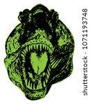 horrible giant dinosaur  the... | Shutterstock .eps vector #1071193748