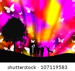 colored background  and children   Shutterstock . vector #107119583