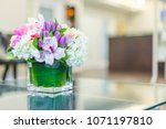 reception interior with... | Shutterstock . vector #1071197810