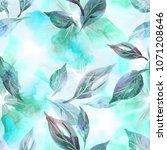 watercolor illustration. floral ...   Shutterstock . vector #1071208646
