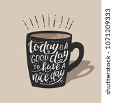 morning coffee. vector... | Shutterstock .eps vector #1071209333